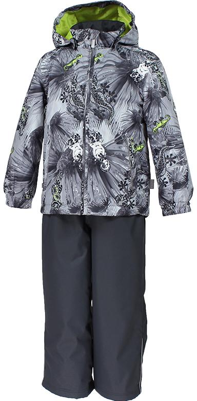 Комплект верхней одежды детский Huppa Yoko, цвет: серый. 41190004-82148. Размер 11641190004-82148Комплект YOKO. Размер 80-122. Водо и воздухонепроницаемость ( 10 000 так же в модельном ряду есть комбинированные изделия 5 000 вверх / 10 000 низ). Состав: Ткань 100% полиэстер, Подкладка тафта 100% полиэстер. Утеплитель: Куртка 40 гр, брюки 40 гр. Отличительные особенности: Швы проклеены, Отстегивающийся капюшон, Капюшон на резинке, Манжеты рукавов на резинке, Регулируемые низы, Эластичный шнур+фиксатор, Без внутренних швов, Резиновые подтяжки. Присутствуют светоотражательные детали.