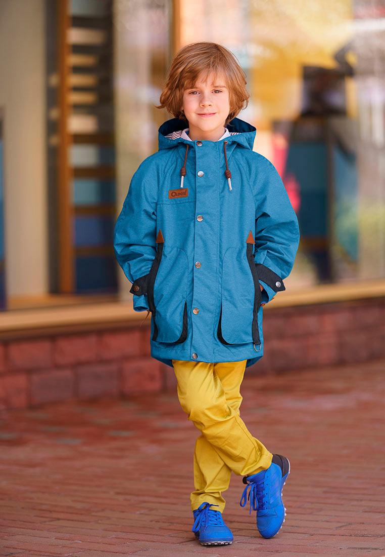 Куртка для мальчика Oldos Винсент, цвет: синий, серый. 3O8JK08-1. Размер 104, 4 года3O8JK08-1Стильная куртка для юных модников от OLDOS. Внешняя ткань с водо-грязеотталкивающей пропиткой защищает от ветра и дождя. Принтованная подкладка из бязи - 65% полиэстер, 35% хлопок. Куртка хорошо защитит от ветра благодаря капюшону с регулируемой утяжкой на х/б шнуре, двойной ветрозащитной планке по всей длине молнии с защитой подбородка, манжетам на кнопке, регулировке по низу куртки. Карманы накладные на молнии. Светоотражающие элементы.