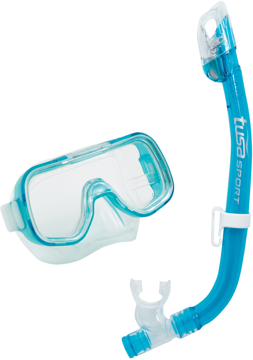 Комплект детский для плавания Tusa Sport UCR2022 CLB (маска+трубка), цвет: синий