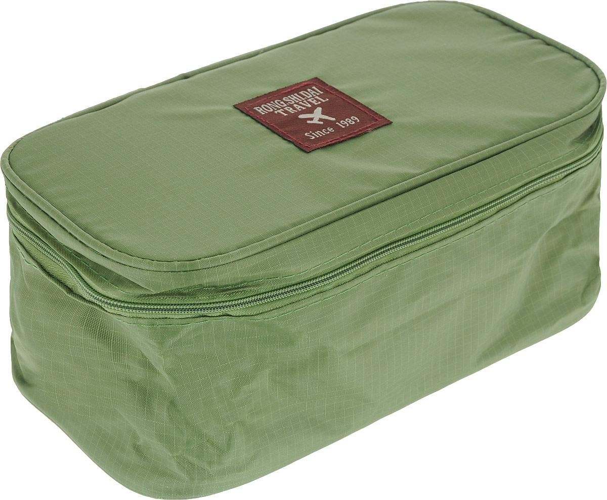 Косметичка дорожная Routemark, цвет: зеленый , 26 х 13 см501Удобная и компактная сумочка зеленого цвета станет ярким, акцентирующим на себе внимание атрибутом багажа. Здесь удобно можно поместить все, что всегда должно быть под рукой. Для женщин это просто находка. Водоотталкивающий материал, из которого выполнена данная модель, обеспечит сохранность размещенных в нем вещей даже в ненастную погоду. Множество внутренних кармашков позволит каждой вещице определить свое место, не путая нижнее белье с носовыми платками, а интимные принадлежности с губной помадой. Наличие такого органайзера позволяет собраться в дорогу заранее, без лишней спешки, тщательно продумав каждую мелочь. А перед поездкой лишь не забыть прихватить с собой органайзер для путешествий.