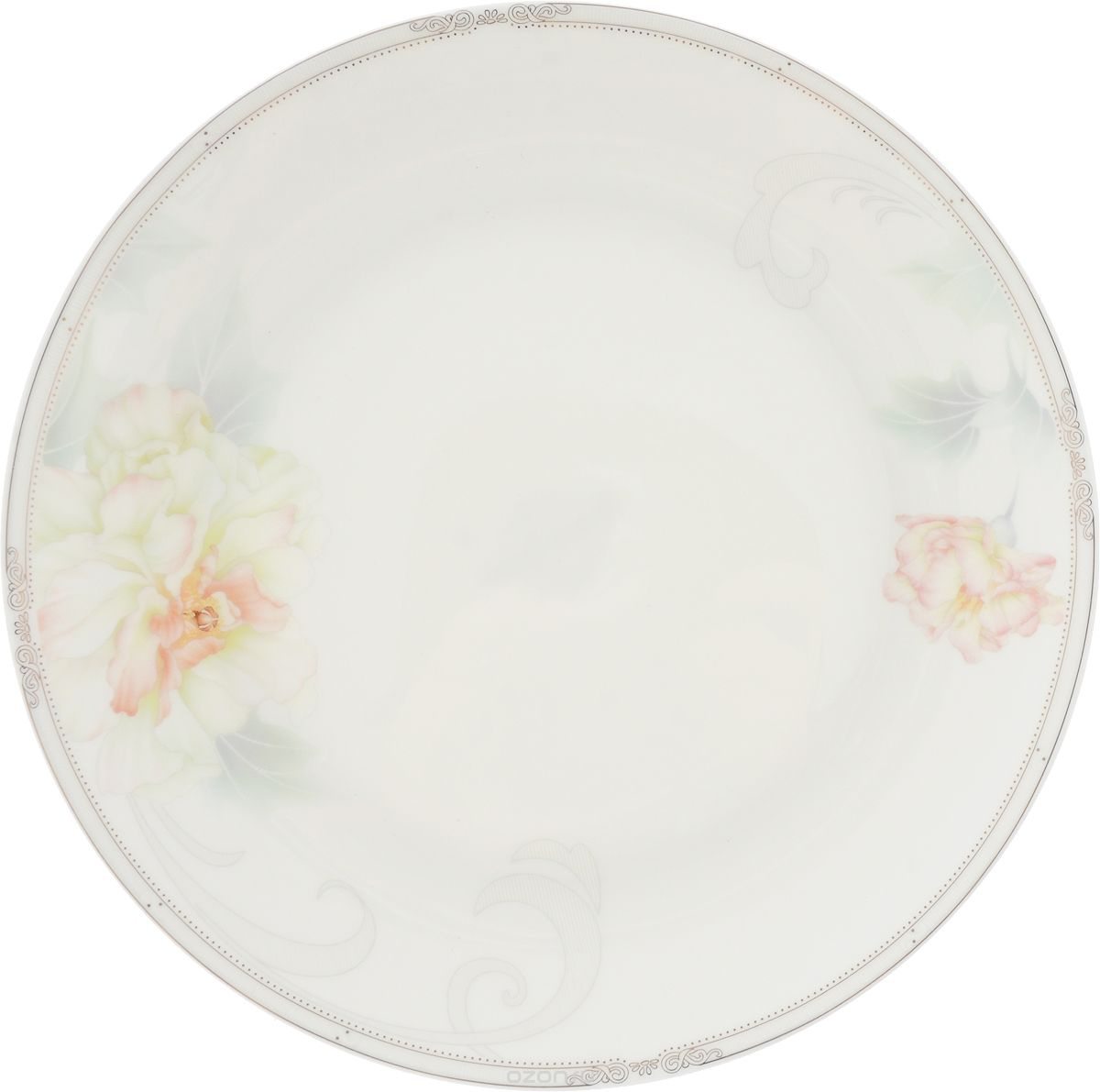 Тарелка плоская Royal Aurel Акварель, диаметр 25 см629/1Фарфор Royal Aurel отличается исключительной белизной, что объясняется уникальнымикомпонентами и традиционной технологией, по которой он был изготовлен. Белая глина изпровинции Фуцзянь и традиционные рецепты китайских мастеров создают неповторимуюкомпозицию. Материал: костяной фарфор.