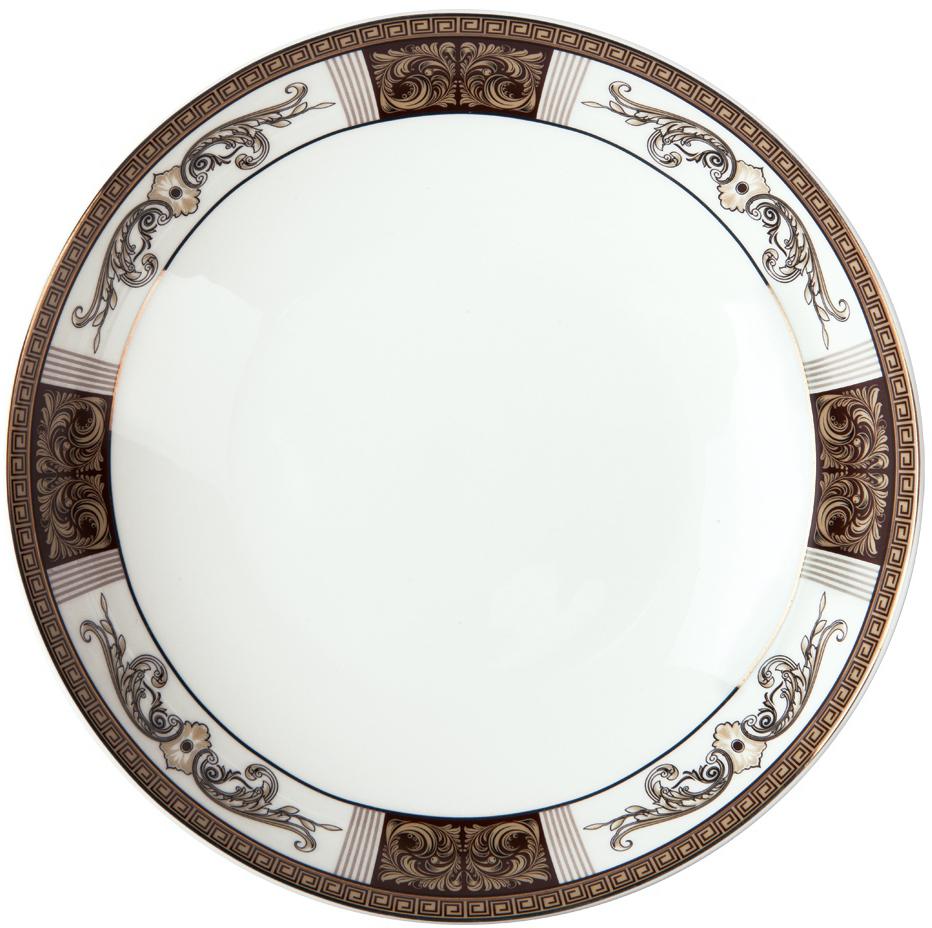 Тарелка плоская Royal Aurel Антик, диаметр 25 см612/1Антик тарелка плоская 25 см 1 шт. Материал: костяной фарфор. Фарфор Royal Aurel отличается исключительной белизной, что объясняется уникальными компонентами и традиционной технологией, по которой он был изготовлен. Белая глина из провинции Фуцзянь и традиционные рецепты китайских мастеров создают неповторимую композицию. Дизайн коллекций выполнен в соответствии с актуальными европейскими тенденциями.