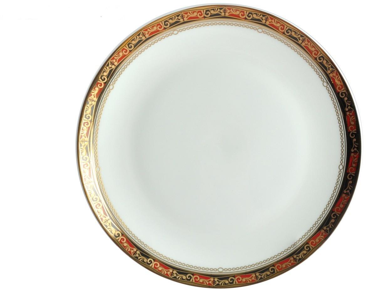 Тарелка плоская Royal Aurel Дерби, диаметр 20 см526/1Дерби тарелка плоская 20 см 1 шт. Материал: костяной фарфор. Фарфор Royal Aurel отличается исключительной белизной, что объясняется уникальными компонентами и традиционной технологией, по которой он был изготовлен. Белая глина из провинции Фуцзянь и традиционные рецепты китайских мастеров создают неповторимую композицию. Дизайн коллекций выполнен в соответствии с актуальными европейскими тенденциями.