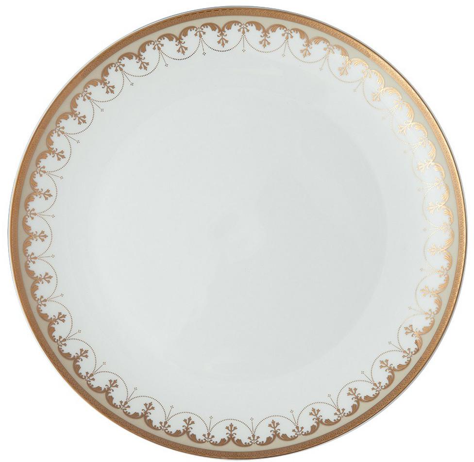 Тарелка плоская Royal Aurel Империал, диаметр 25 см631/1Фарфор Royal Aurel отличается исключительной белизной, что объясняется уникальными компонентами и традиционной технологией, по которой он был изготовлен. Белая глина из провинции Фуцзянь и традиционные рецепты китайских мастеров создают неповторимую композицию. Дизайн коллекций выполнен в соответствии с актуальными европейскими тенденциями.