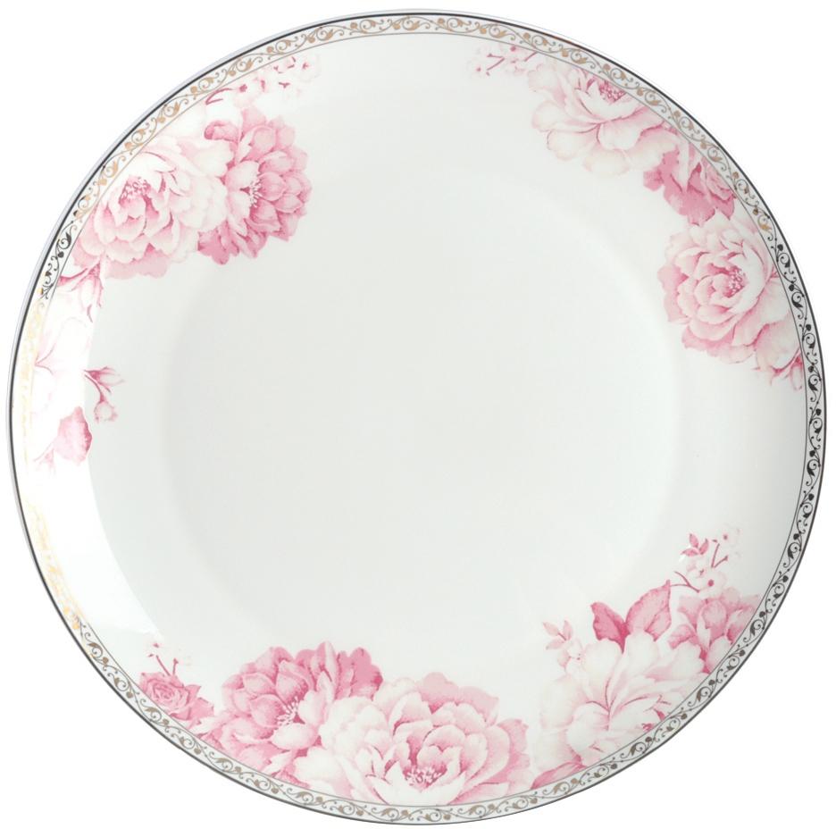 Блюдо Royal Aurel Пион, цвет: белый, розовый, диаметр 25 см605/1Плоское блюдо Royal Aurel Пион выполнено из костяного фарфора.Фарфор Royal Aurel отличается исключительной белизной, что объясняется уникальными компонентами и традиционной технологией, по которой он был изготовлен. Белая глина из провинции Фуцзянь и традиционные рецепты китайских мастеров создают неповторимую композицию. Дизайн коллекций выполнен в соответствии с актуальными европейскими тенденциями.