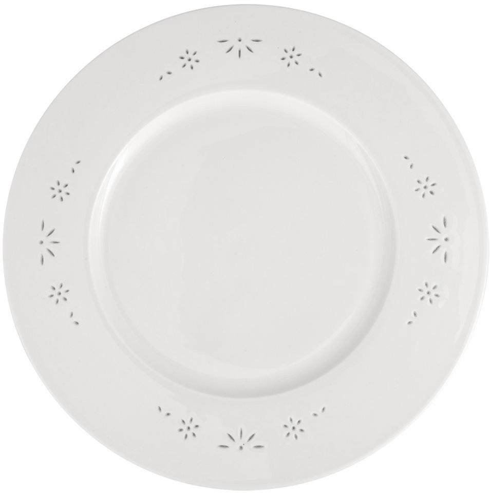 Тарелка плоская Royal Aurel Севилья, диаметр 25 см639/1Севилья тарелка плоская 25 см 1 шт. Материал: костяной фарфор. Фарфор Royal Aurel отличается исключительной белизной, что объясняется уникальными компонентами и традиционной технологией, по которой он был изготовлен. Белая глина из провинции Фуцзянь и традиционные рецепты китайских мастеров создают неповторимую композицию. Дизайн коллекций выполнен в соответствии с актуальными европейскими тенденциями.
