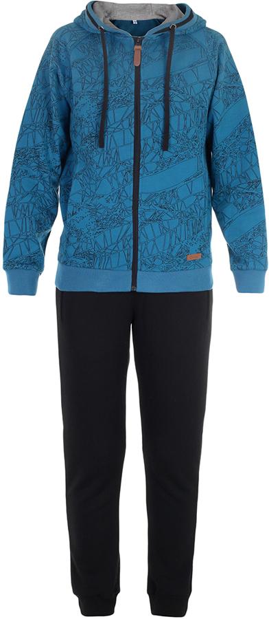Спортивный костюм для мальчика Oldos Матис, цвет: синий. 5O8SU07. Размер 140, 10 лет5O8SU07Стильный спортивный костюм для мальчика. Футер плотностью 360 г., 60% хлопок, 40% полиэстер. Крой толстовки классический и имеет все необходимое для комфортной носки: капюшон со шнурком-утяжкой, карманы на молнии, манжеты и низ из трикотажного полотна. В брюках: пояс из трикотажного полотна с внутренней резинкой, дополнительная утяжка пояса шнурком, трикотажные манжеты по низу брючин. Костюм подходит как для повседневной носки, так и для занятия спортом.