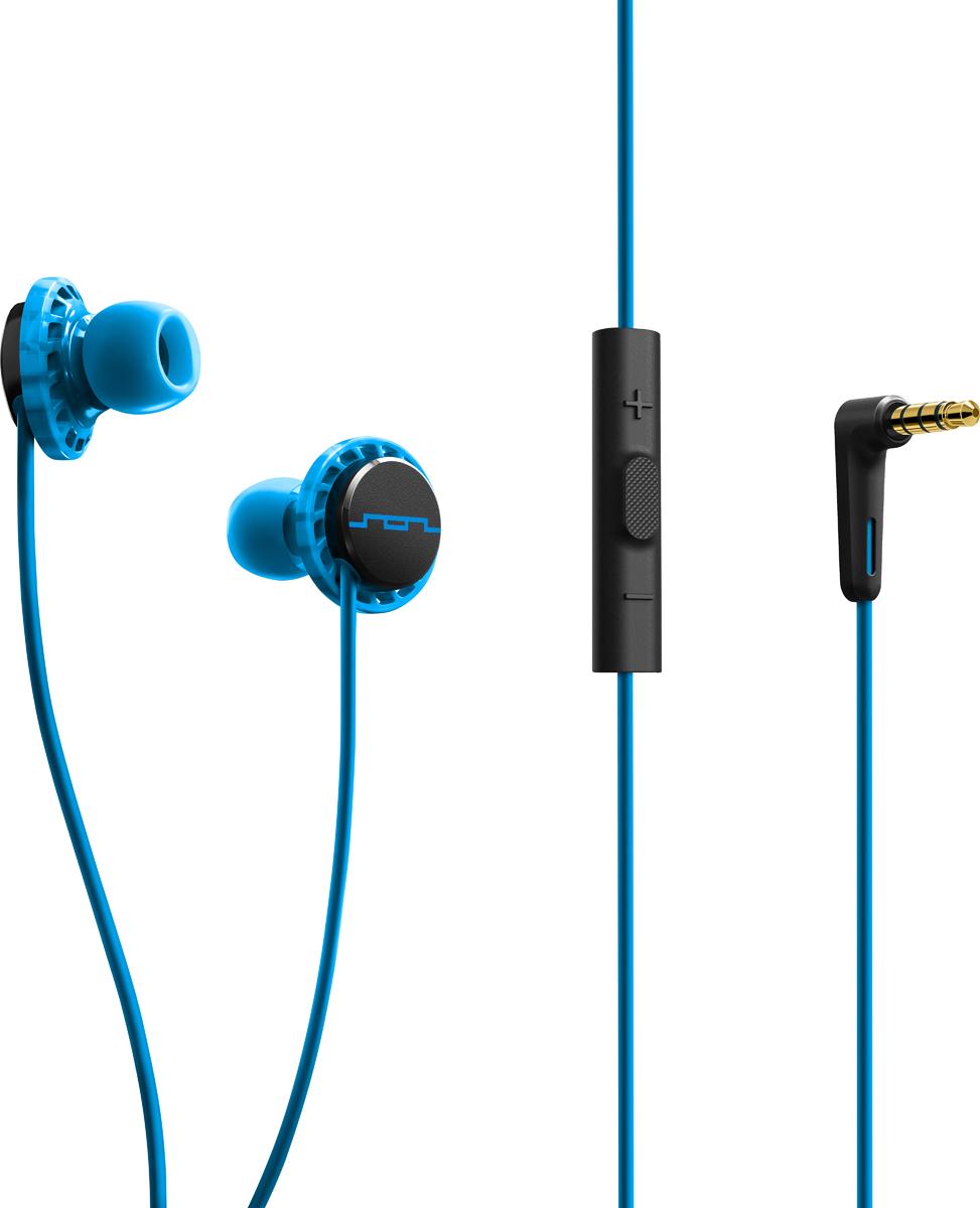 Sol Republic SOL-EP1152BL Relays Sport, Blue наушникиSOL-EP1152BLУльтра-легкие наушники Relays Sport будут радовать вас не только во время тренировок, но и на ежедневных прогулках. Наушники прочно сидят в ушах благодаря технологии FreeFlex, при этом обеспечивая пассивную шумоизоляцию и не вызывают дискомфорта при длительном прослушивании. 1-кнопочный пульт управления позволит вам управлять треками и отвечать на телефонные звонки. В комплекте находятся 4 пары амбушюр разных размеров, для того чтобы вы смогли подобрать идеальный вариант посадки. Высокая степень защиты класса IPX4 будет служить защитой вашим наушникам от воздействия пота и влаги. Философия бренда заключается в том, что для каждого момента в вашей жизни существует свой саундтрек. И имеено поэтому первая часть названия бренда SOL расшифровывается как Soundtrack of your Life, что в переводе значит Саундрек вашей жизни. Sol Republic это не только качественный звук, но и яркий модный аксессуар, дополняющий образ.