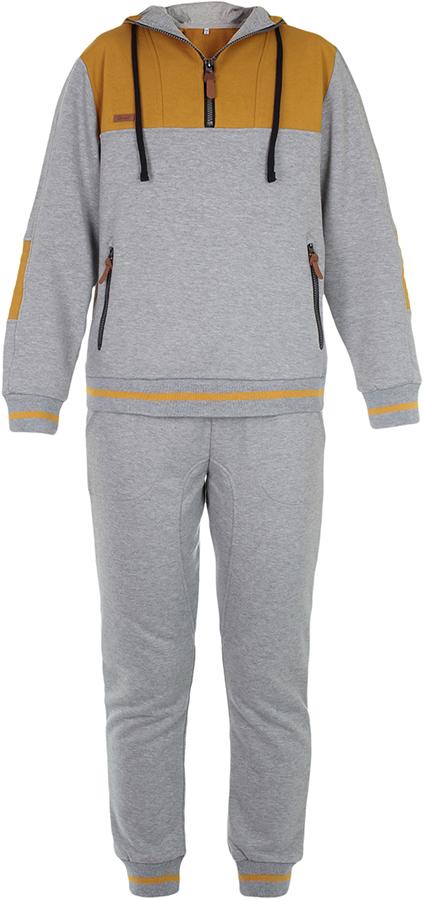 Спортивный костюм для мальчика Oldos Коул, цвет: серый, золотой. 5O8SU09. Размер 164, 13 лет спортивный костюм для девочки oldos сильвия цвет фиолетовый темно серый 5o8su04 размер 158 12 лет