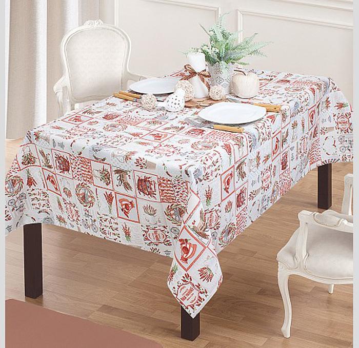 Классический прованский дизайн приятных цветов на скатерти из хлопка и полиэстера создаст в вашей кухни атмосферу солнечной и теплой Франции.