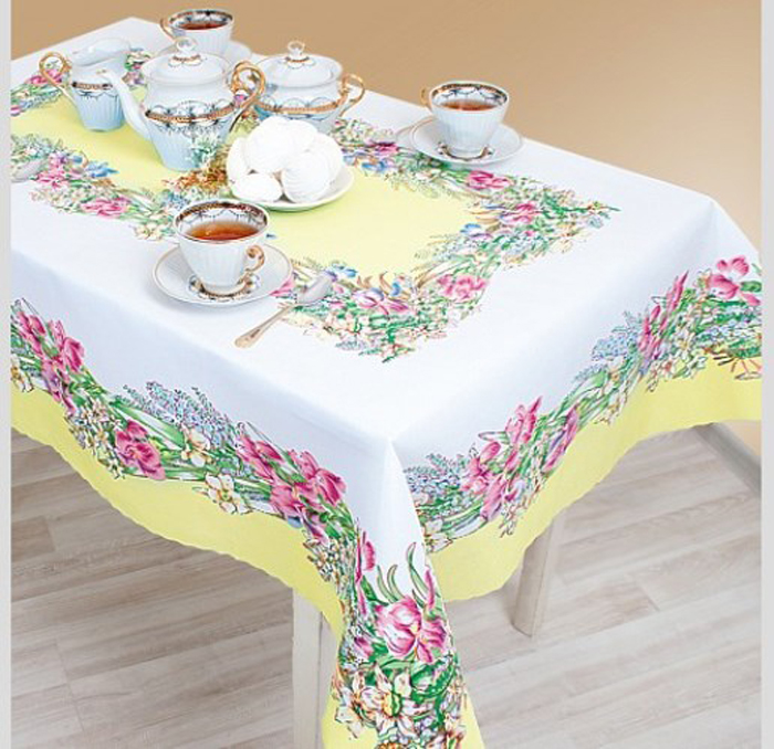 Скатерть Nadzejka Цветы, прямоугольная, 120 x 150 см скатерть boyscout прямоугольная 110 x 150 см