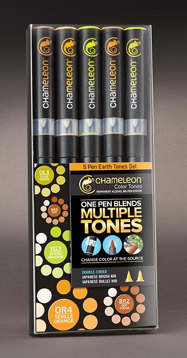 Chameleon Набор маркеров Earth Tones 5 штCT0503Спиртовые маркеры Chameleon Color Tones идеально подходят для скетчинга, манги и графики. Каждый маркер позволяет получить градиент от самого светлого до самого насыщенного оттенка выбранного цвета. Просто совместите перо и смешивающую камеру, измените оттенок цвета пера и создайте бесшовные переходы. Благодаря Chameleon палитра маркеров становится гораздо шире, чем цвет, указанный на колпачке. Создавайте потрясающие эффекты, такие как 3D, плавные и бесшовные смешивания и градиенты, выделения и затемнения. Маркеры Chameleon имеют два японских пера: эластичное перо-кисть и перо пулевидной формы. Маркеры не токсичны и практически не имеют запаха. Дополнительные характеристики: - спиртовые чернила профессионального качества; - сменные перья; - два японских пера: эластичное перо-кисть и пулевидное перо; - чернила устойчивы на большинстве поверхностей; - совместимы с другими спиртовыми чернилами; - нетоксичны и практически без запаха; - идеально подходят для скетчинга, манги и графики; - набор маркеров 5 шт., оттенки земли;