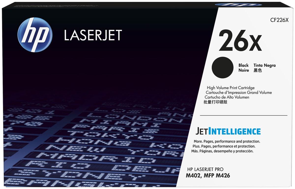 HP CF226X, Black тонер-картридж для HP LaserJet Pro M402/MFP M426CF226XПоложитесь на оригинальные лазерные картриджи HP увеличенной емкости с технологией JetIntelligence. Они обладают максимальным ресурсом и поддерживают высокую скорость печати. Технология защиты от подделок обеспечит стабильное ожидаемое качество, несопоставимое с предложениями конкурентов HP.Уникальная технология HP защитит ваш бизнес от поддельных картриджей. Благодаря политикам использования только оригинальных технологий HP и защите от поддельных картриджей вы сможете контролировать расходы и поддерживать стандарты качества при работе с принтерами и МФУ HP LaserJet.