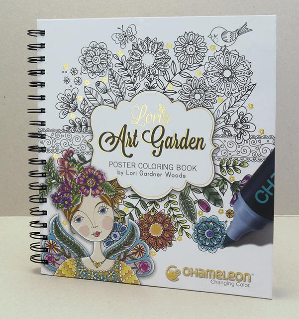Chameleon Раскраска-альбом Art Garden - Бумага и картон