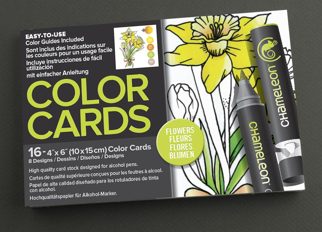 Chameleon Раскраска-склейка Flowers - Бумага и картон