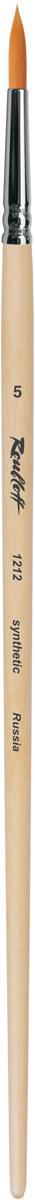 Roubloff Кисть 1212 синтетика круглая № 2 длинная ручкаЖС1-02,02БКисть круглая из волоса рыжей мягкой синтетики на длинной деревянной лакированной ручке с хромированной обоймой серебряного цвета.