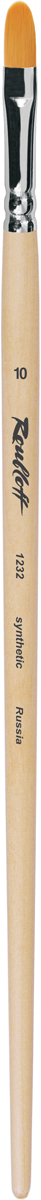 Roubloff Кисть 1232 синтетика овальная № 6 длинная ручкаЖС3-06,02БКисть овальная из волоса рыжей мягкой синтетики на длинной деревянной лакированной ручке с хромированной обоймой серебряного цвета. Используется для прорисовки фигур и округлых контуров.