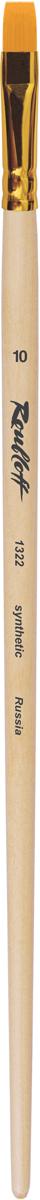 Roubloff Кисть 1322 синтетика плоская № 14 длинная ручкаЖС2-14,02ЖКисть плоская из волоса рыжей жесткой синтетики на длинной деревянной лакированной ручке с алюминиевой обоймой золотого цвета.