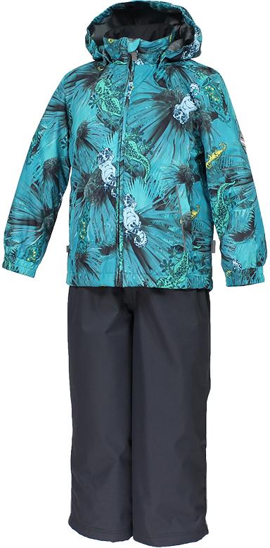Комплект верхней одежды детский Huppa Yoko 1, цвет: бирюзово-зеленый. 41190104-82166. Размер 14041190104-82166Комплект для девочек YOKO 1. Водо и воздухонепроницаемость ( 10 000 так же в модельном ряду есть комбинированные изделия 5 000 вверх / 10 000 низ). Состав: Ткань 100% полиэстер, Подкладка тафта 100% полиэстер. Утеплитель: Куртка 40 гр, брюки 40 гр. Отличительные особенности: Швы проклеены, Отстегивающийся капюшон, Капюшон на резинке, Манжеты рукавов на резинке, Регулируемые низы, Эластичный шнур+фиксатор, Съемные резиновые подтяжки, Добавлены петли для подтяжек. Присутствуют светоотражательные детали.
