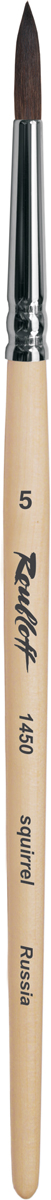 Roubloff Кисть 1450 белка круглая № 6 короткая ручка -  Кисти