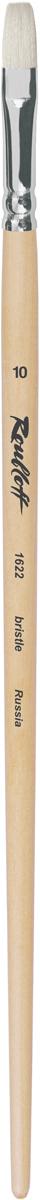 Roubloff Кисть 1622 щетина плоская № 4 длинная ручкаЖЩ2-04,02БКисть плоская из волоса щетины на длинной лакированной деревянной ручке с алюминиевой обоймой.