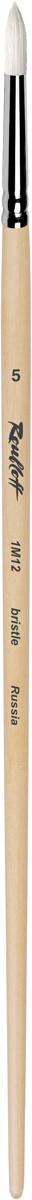 Roubloff Кисть 1M12 синтетика и щетина круглая № 7 длинная ручкаЖМ1-07,02БКисть круглая, жесткая из смеси щетины и синтетики на длинной лакированной деревянной ручке с хромированной обоймой серебряного цвета.