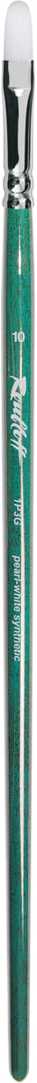 Roubloff Кисть 1P3G синтетика овальная № 6 длинная ручкаЖР3-06,0GБКисть овальная из волоса жемчужной жесткой синтетики на длинной глянцевой зеленой ручке с хромированной обоймой серебряного цвета.