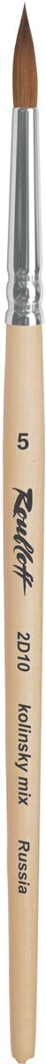 Roubloff Кисть 2D10 колонок круглая № 0 короткая ручкаЖD1-00,80БКисть круглая, мягкая из колонка микс на короткой лакированной деревяной ручке с алюминиевой обоймой.
