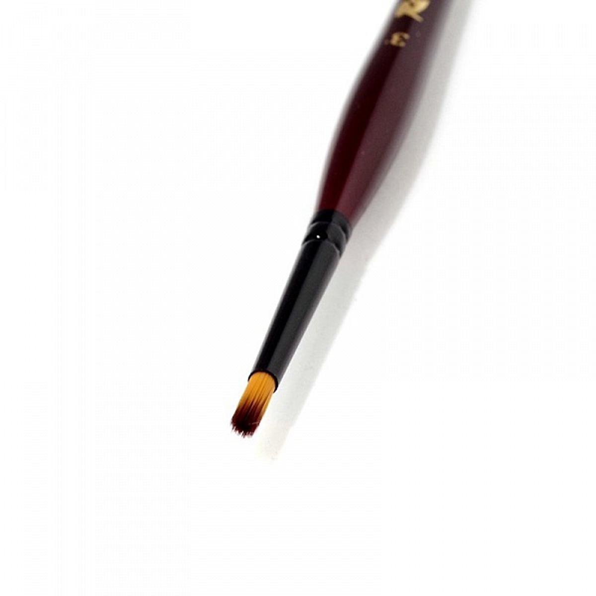 Roubloff Кисть 04RB синтетика круглая № 3Ж04-03,0RBКисть Трафаретная - визуально похожа на традиционную трафаретную кисть, но выполнена из синтетики на короткой красной фигурной ручке.