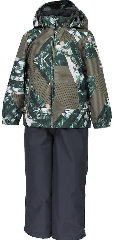 Комплект верхней одежды детский Huppa Yoko 1: куртка, брюки, цвет: зеленый. 41190104-82307. Размер 13441190104-82307Комплект верхней одежды детский Huppa Yoko 1 состоит из курткии брюк. Функциональная куртка изготовлена из износостойкого, дышащего,водо- и ветронепроницаемого материала с водо- и грязеотталкивающейповерхностью. Все швы проклеены, водонепроницаемы. Съемный капюшонзащищает от холодного ветра. В брюках имеется ширинка на молнии ирегулируемые эластичные подтяжки. Комплект снабжен светоотражателями. Вкуртке предусмотрены два кармана на молнии.Полная функциональность: отповседневного комфорта до экстремальных условий.Водо- и воздухонепроницаемость 10 000 (так же в модельном ряду есть комбинированные изделия 5 000 вверх / 10 000 низ). Утеплитель: куртка 40 г, брюки 40 г. Отличительные особенности: швы проклеены, отстегивающийся капюшон, капюшон на резинке, манжеты рукавов на резинке, регулируемые низы, эластичный шнур с фиксатором, съемные резиновые подтяжки, добавлены петли для подтяжек.