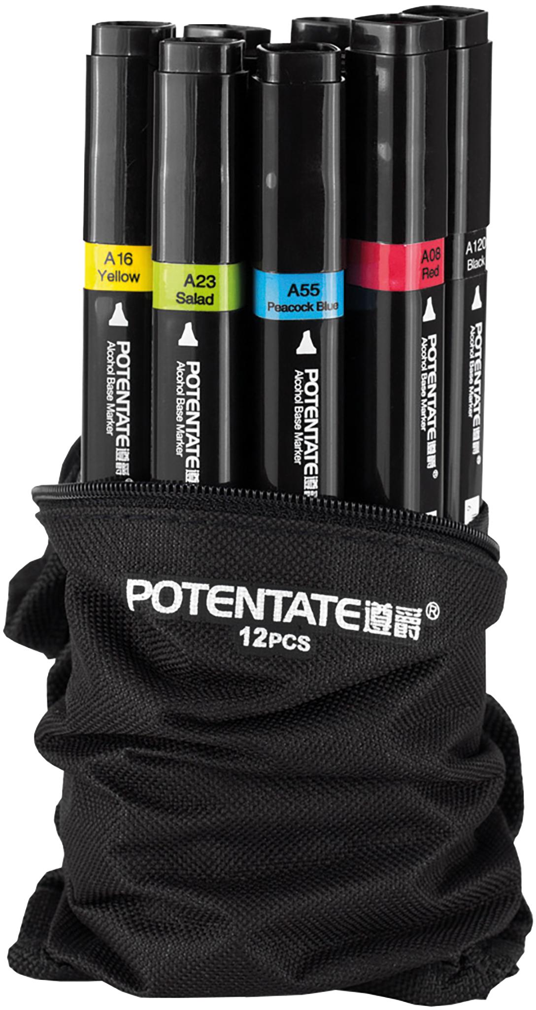 Potentate Набор маркеров Bag Set 12 цветов -  Маркеры