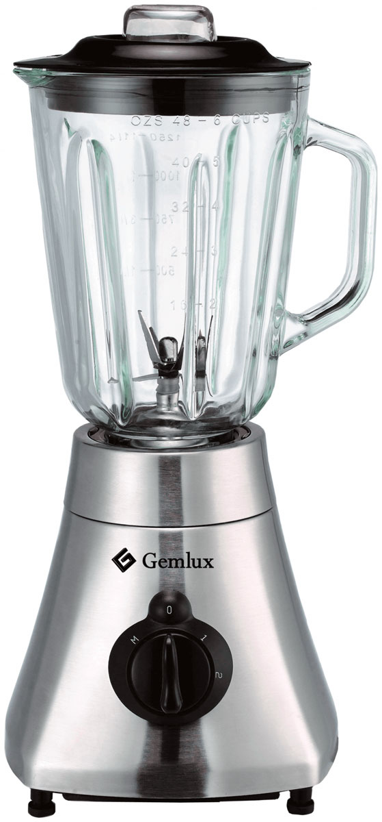 Gemlux GL-BL500G блендерGL-BL500GБлендер Gemlux GL-BL500G оснащен высокоскоростным двигателем, прочным нержавеющим ножом и вместительным стеклянным стаканом. Это позволяет быстро и качественно измельчать и перемешивать как мягкие, так и твердые продукты, а также готовить сразу несколько порций напитка или супа.В данной модели предусмотрено простое электромеханическое управление с двумя скоростями (низкой и высокой) и импульсным режимом, которое обеспечивает выполнение основных кухонных операций: приготовление коктейлей (в том числе со льдом), супов-пюре, соусов, муссов и т.п., а также быструю очистку устройства по окончании работы.Gemlux GL-BL500G имеет лаконичный дизайн, смотрится стильно и профессионально и идеально вписывается в интерьер современной кухни. Прочный нержавеющий корпус, массивный моторный блок и прорезиненные ножки обеспечивают устойчивость устройства даже при максимальной нагрузке.