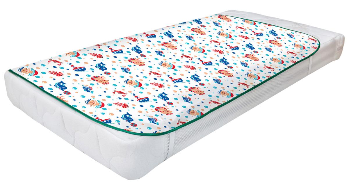 Колорит Клеенка подкладная с резинками-держателями для детских колясок цвет белый 50 x 70 см
