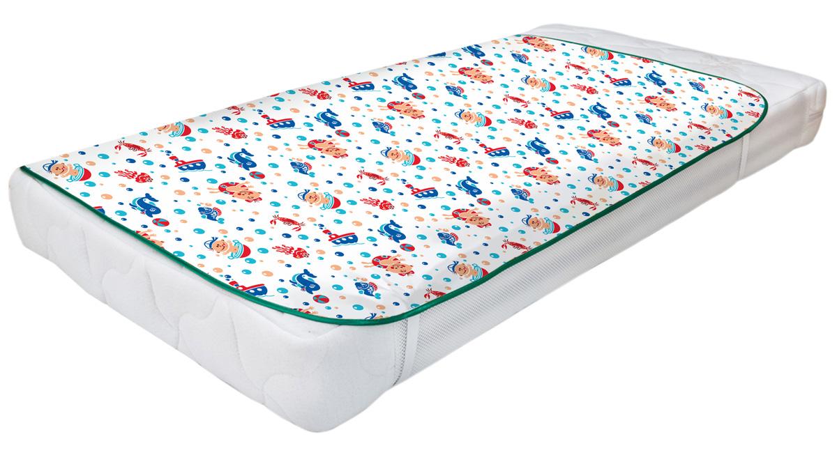 Колорит Клеенка подкладная с резинками-держателями для детских колясок цвет белый 60 x 120 см