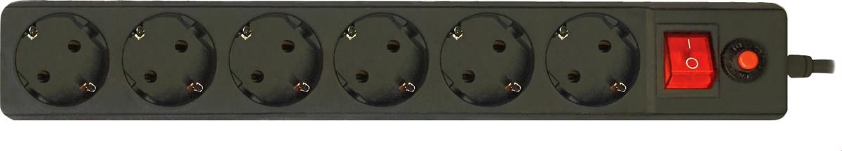 CBR CSF 2600-5.0 PC, Black сетевой фильтрCSF 2600-5.0 Black PCСетевой фильтр CBR CSF 2600 на 6 розеток будет прекрасным защитником вашей техники от внезапных перепадов напряжения в сети и связанных с этим поломок. С этим сетевым фильтром вы можете не беспокоиться о возможности возникновения пожара вследствие перепадов напряжения, потому что всю мощь электроудара возьмет на себя предохранитель этого фильтра. Контакты и силовой кабель сделаны из прочных материалов, что дает стойкость к окислению и нагреванию, обеспечивая высокую и стабильную проводимость тока. Помимо основных функций, сетевой фильтр может использоваться в качестве удлинителя за счет своего сетевого кабеля длиной 5 м. Также предусмотрена возможность крепления фильтра на стену. Имеется кнопка Reset.