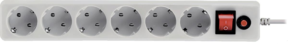 CBR CSF 2600-3.0 PC, White сетевой фильтрCSF 2600-3.0 White PCСетевой фильтр CBR CSF 2600на 6 розеток будет прекрасным защитником вашей техники отвнезапных перепадов напряжения всети исвязанных сэтим поломок. Сэтим сетевым фильтром выможете небеспокоиться овозможности возникновения пожара вследствие перепадов напряжения, потому что всю мощь электроудара возьмет насебя предохранитель этого фильтра. Контакты исиловой кабель сделаны изпрочных материалов, что дает стойкость кокислению инагреванию, обеспечивая высокую истабильную проводимость тока. Помимо основных функций, сетевой фильтр может использоваться вкачестве удлинителя засчет своего сетевого кабеля длиной 3 м. Также предусмотрена возможность крепления фильтра настену. Имеется кнопка Reset.