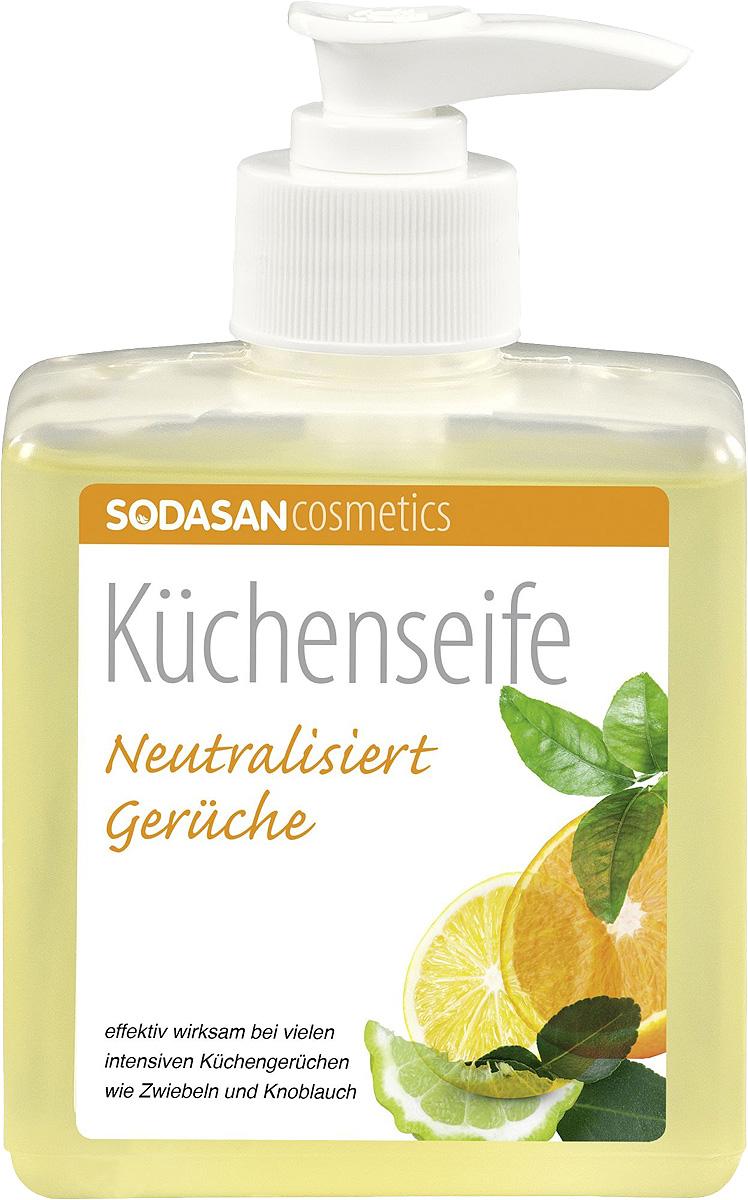 Мыло жидкое Sodasan, для кухни, 300 мл8036Жидкое ыло для кухни Sodasan бережно очищает и защищает ваши руки, оставляя легкий аромат. Входящий в состав специальный активный ингредиент рицинолеат цинка эффективно устраняет неприятные запахи при приготовлении пищи: чеснока, лука, рыбы. Мыло для кухни Sodasan можно использовать для мытья посуды, разделочных досок. Благодаря содержанию органического масла оливы мыло для кухни смягчает кожу рук.Совет: даже против стойких запахов, таких как никотин.Состав: 30% вода, 15-30% растительное мыло (аннионные ПАВ), состоящее из глюкозидов кокоса и омыленных масел семян подсолнечника, децил глюкозид или ПАВ сахара (неионогенные ПАВ), 6% состава сырья, выращенного в сельских хозяйствах с контролируемым органическим земледелием. 100% состава природного происхождения. Объем: 300мл. Хранить в недоступном для детей месте, при температуре +5..+25 С. Избегать попадания в глаза.