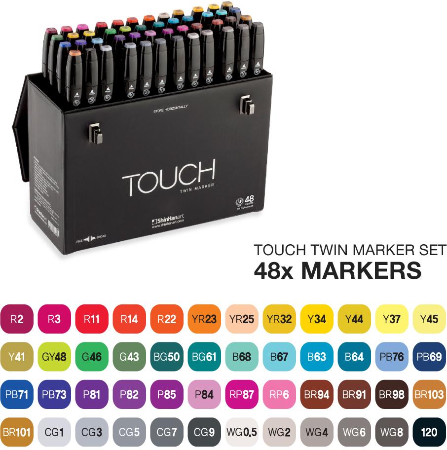 Touch Набор маркеров Twin 48 цветов -  Маркеры