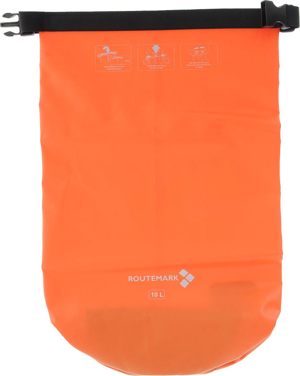 Гермомешок Routemark, цвет: оранжевый, 47 х 31 см6482Гермомешок Routemark, изготовленный из прочного водоотталкивающего ПВХ, нужен всем, кто любит активноевремяпрепровождение. К гермомешку прикрепляется регулируемый по длине ремень на застежках-карабинах,благодаря чему вы сможете носить этот практичный мешок как рюкзак на плече, или же, как сумку в руках. Сподобным изделием, вы будете уверены, что ваши гаджеты, личные вещи, документы всегда будут в целостии сохранности и защищены от воды. Вместимость мешка: 10 л Ширина: 31 см Высота: 47 см.
