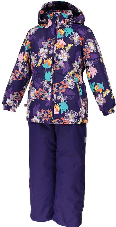 Комплект одежды для девочки Huppa Yonne 1: куртка, брюки, цвет: темно-лиловый. 41260104-81173. Размер 13441260104-81173Костюм для девочки Huppa Yonne 1 состоит из куртки и брюк. Костюм выполнен из 100% полиэстера с высокими показателями износостойкости. Ткань с обратной стороны покрыта слоем полиуретана с микропорами (мембрана), который препятствует прохождению влаги и ветра внутрь изделия. Для максимальной влагонепроницаемости швы проклеены водостойкой лентой. Подкладка костюма выполнена из гладкой тафты. Высокотехнологичный легкий синтетический утеплитель имеет уникальную структуру микроволокон, которые не позволяют проникнуть внутрь холодному воздуху, в то же время удерживают теплый между волокнами и обеспечивают высокую теплоизоляцию. Куртка имеет застежку-молнию с защитой подбородка от прищемления, отстегивающийся капюшон, прорезные открытые карманы. Талия, манжеты рукавов и край капюшона снабжены эластичными резинками. Брюки закрываются на застежку-молнию и пуговицу в поясе, эластичные подтяжки регулируемой длины легко снимаются, талия снабжена резинкой для плотного прилегания, низ брючин также регулируется. На изделиях присутствуют светоотражательные элементы для безопасности в темное время суток.