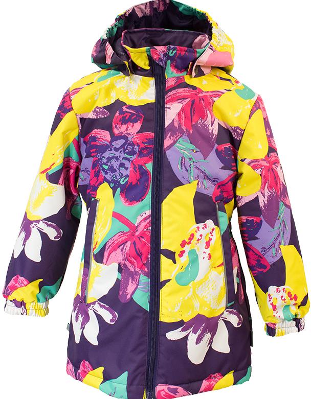 Куртка для девочки Huppa June 1, цвет: темно-лиловый. 17880104-81373. Размер 13417880104-81373Демисезонная куртка для девочек June 1. Мембранная ткань отличается высокими водо- и ветронепроницаемыми качествами. Куртка с утеплителем 40 г подходит для ношения при температуре воздуха от +5 до +15°С. Мягкая подкладка из флиса сохраняет тепло тела. Воротник-стойка, застежка на молнию. Капюшон отстегивается. По бокам он укреплен резинкой для лучшей защиты головы и ушей от ветра и дождя. Манжеты с двойной резинкой. Карманы в области талии застегиваются на молнию. На спинке вшит эластичный пояс. Светоотражающие канты и детали служат для безопасности ребенка.