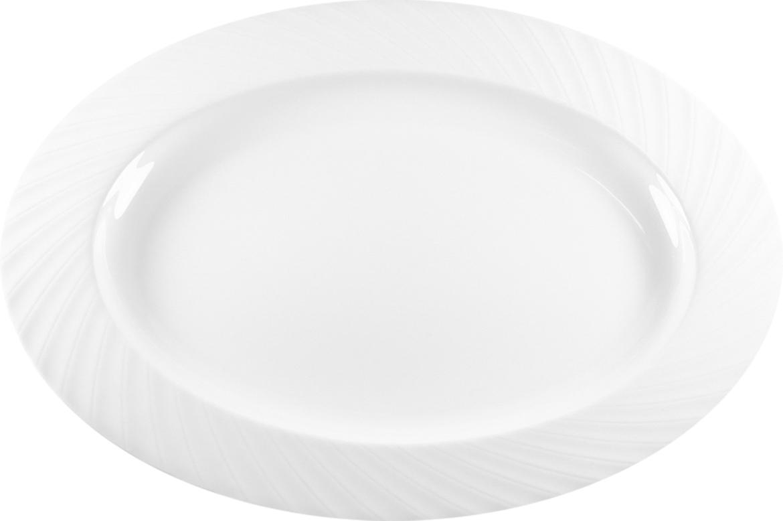 Блюдо Nuova Cer Mayfair, овальное, цвет: белый, 34 х 27,5 смB1631Блюдо Nuova Cer- новый уникальный продукт на рынке фарфора, производится из материала, в состав которого входит алюминиум (глинозем) в виде порошка, что придает фарфору уникальные свойства: белоснежный цвет, как на поверхности, так и на изломе, более тонкие и изящные формы, так как добавление металла делает фарфоровую массу более пластичной, устойчивость к сколам и царапинам.Возможный перепад температур при эксплуатации до 200 градусов!Фарфор покрывается глазурью, что характеризует эту посуду как продукт высшего класса.Идеально подходит для использования в микроволновой печи и посудомоечной машине.