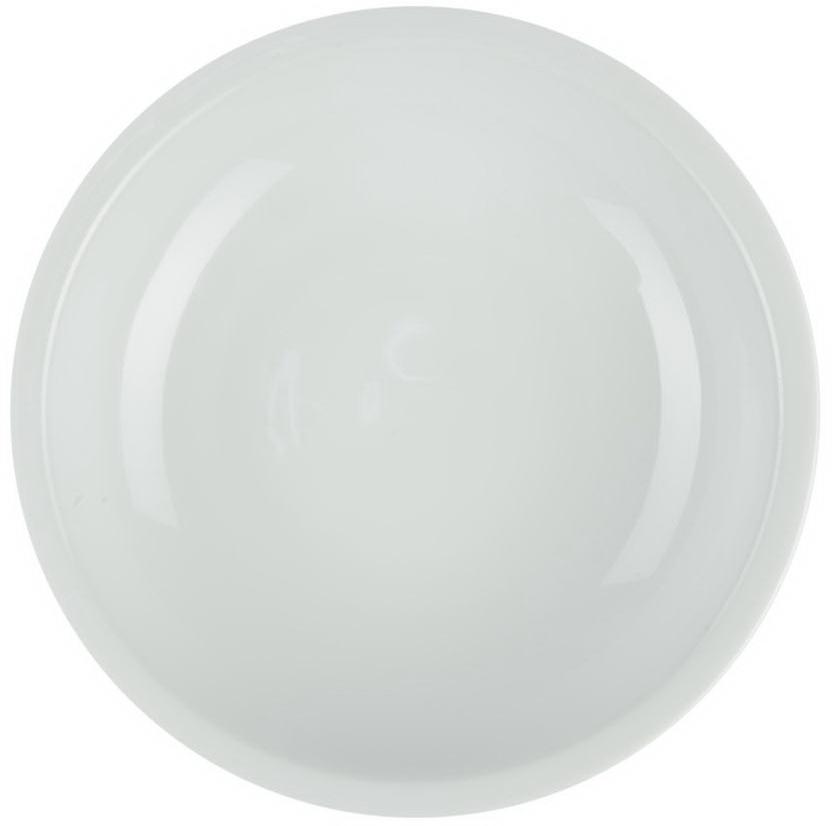 Тарелка Royal Porcelain, диаметр 30,5 смРП-0557ROYAL новый уникальный продукт на рынке фарфора производится из материала, в состав которого входит алюминиум (глинозем) в виде порошка, что придаёт фарфору уникальные свойства: белоснежный цвет, как на поверхности, так и на изломе, более тонкие и изящные формы, так как добавление металла делает фарфоровую массу более пластичной, устойчивость к сколам и царапинам. Возможный перепад температур при эксплуатации до 200 градусов! Фарфор покрывается глазурью, что характеризует эту посуду как продукт высшего класса. Идеально подходит для использования в микроволновой печи и посудомоечной машине