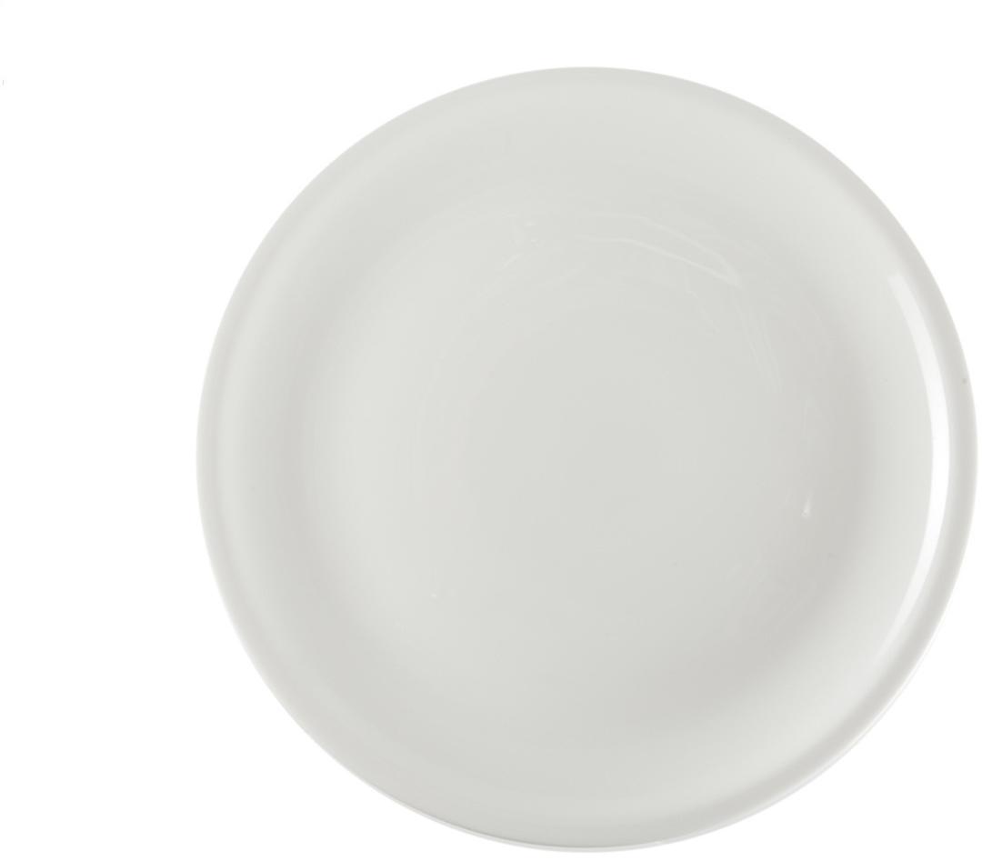 Тарелка Royal Porcelain, диаметр 21 смРП-0560ROYAL новый уникальный продукт на рынке фарфора производится из материала, в состав которого входит алюминиум (глинозем) в виде порошка, что придаёт фарфору уникальные свойства: белоснежный цвет, как на поверхности, так и на изломе, более тонкие и изящные формы, так как добавление металла делает фарфоровую массу более пластичной, устойчивость к сколам и царапинам. Возможный перепад температур при эксплуатации до 200 градусов! Фарфор покрывается глазурью, что характеризует эту посуду как продукт высшего класса. Идеально подходит для использования в микроволновой печи и посудомоечной машине