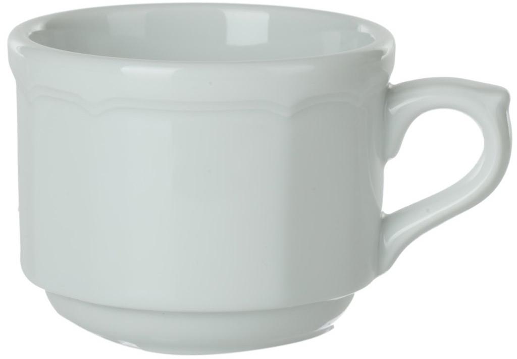 Чашка кофейная Nuova Cer, 100 млРП-3215ROYAL новый уникальный продукт на рынке фарфора производится из материала, в состав которого входит алюминиум (глинозем) в виде порошка, что придаёт фарфору уникальные свойства: белоснежный цвет, как на поверхности, так и на изломе, более тонкие и изящные формы, так как добавление металла делает фарфоровую массу более пластичной, устойчивость к сколам и царапинам. Возможный перепад температур при эксплуатации до 200 градусов! Фарфор покрывается глазурью, что характеризует эту посуду как продукт высшего класса. Идеально подходит для использования в микроволновой печи и посудомоечной машине