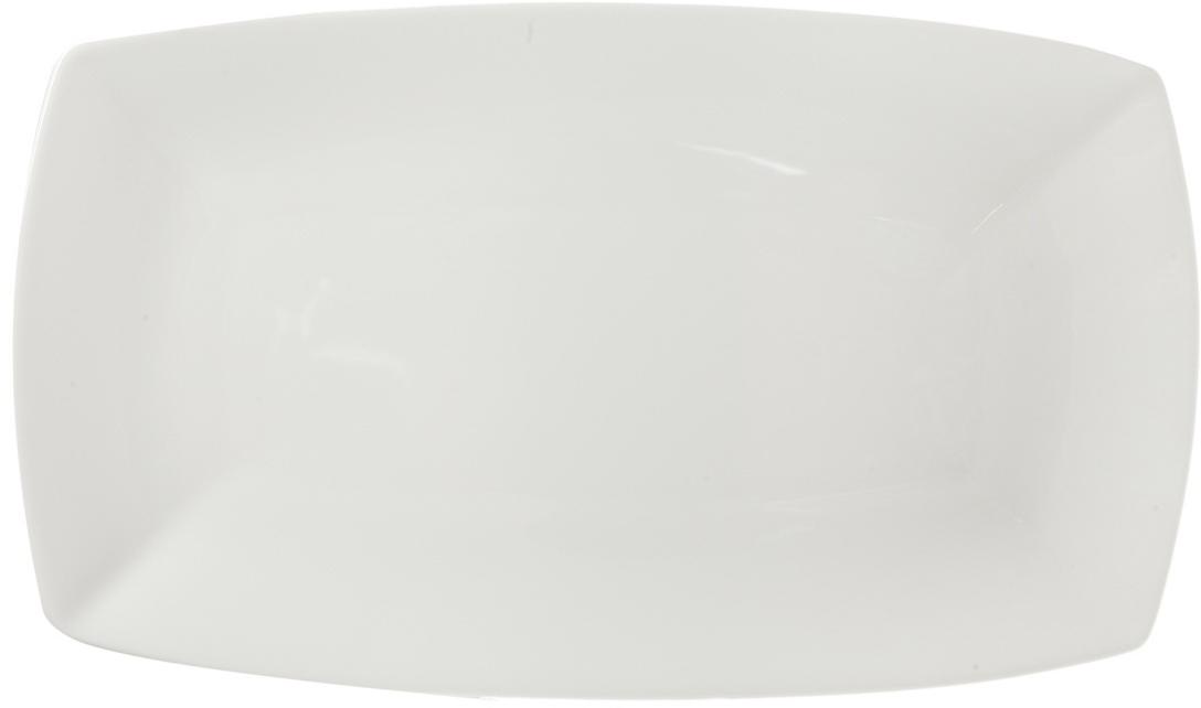 Блюдо Nuova Cer, прямоугольное, цвет: белый, 32 см. РП-4119РП-4119ROYAL новый уникальный продукт на рынке фарфора производится из материала, в состав которого входит алюминиум (глинозем) в виде порошка, что придаёт фарфору уникальные свойства: белоснежный цвет, как на поверхности, так и на изломе, более тонкие и изящные формы, так как добавление металла делает фарфоровую массу более пластичной, устойчивость к сколам и царапинам. Возможный перепад температур при эксплуатации до 200 градусов! Фарфор покрывается глазурью, что характеризует эту посуду как продукт высшего класса. Идеально подходит для использования в микроволновой печи и посудомоечной машине