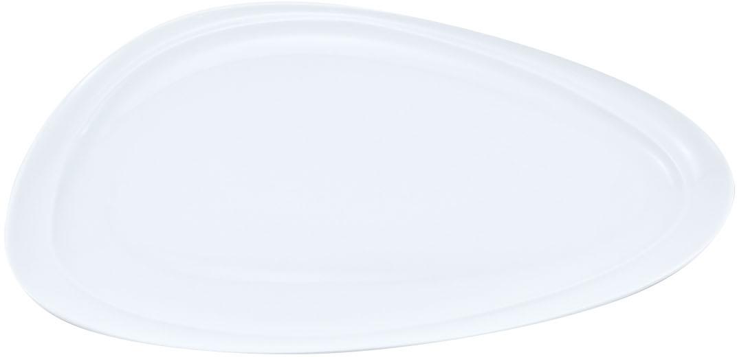 Блюдо Nuova Cer Муд Белое, овальное, цвет: белый, 23,5 х 41 смРП-5607WБлюдо Nuova Cer Муд Белое- новый уникальный продукт на рынке фарфора, производится из материала, в состав которого входит алюминиум(глинозем) в виде порошка, что придает фарфору уникальные свойства: белоснежный цвет, как на поверхности, так и на изломе, более тонкие иизящные формы, так как добавление металла делает фарфоровую массу более пластичной, устойчивость к сколам и царапинам.Возможный перепад температур при эксплуатации до 200 градусов!Фарфор покрывается глазурью, что характеризует эту посуду как продукт высшего класса.Идеально подходит для использования в микроволновой печи и посудомоечной машине.