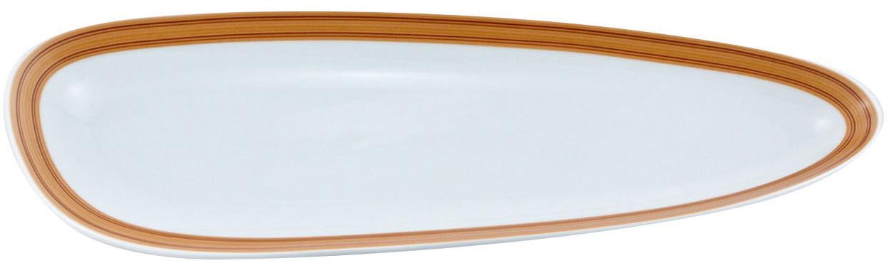 """Блюдо Nuova Cer """"Муд Дерево""""- новый уникальный продукт на рынке фарфора, производится из материала, в состав которого входит алюминиум  (глинозем) в виде порошка, что придает фарфору уникальные свойства: белоснежный цвет, как на поверхности, так и на изломе, более тонкие и  изящные формы, так как добавление металла делает фарфоровую массу более пластичной, устойчивость к сколам и царапинам.  Возможный перепад температур при эксплуатации до 200 градусов!  Фарфор покрывается глазурью, что характеризует эту посуду как продукт высшего класса.  Идеально подходит для использования в микроволновой печи и посудомоечной машине."""