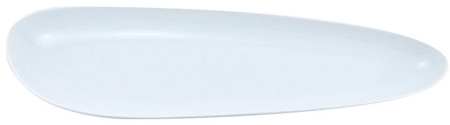 Блюдо Nuova Cer Муд Белое, цвет: белый, 13 х 41 смРП-5630WБлюдо Nuova Cer Муд Белое- новый уникальный продукт на рынке фарфора, производится из материала, в состав которого входит алюминиум(глинозем) в виде порошка, что придает фарфору уникальные свойства: белоснежный цвет, как на поверхности, так и на изломе, более тонкие иизящные формы, так как добавление металла делает фарфоровую массу более пластичной, устойчивость к сколам и царапинам.Возможный перепад температур при эксплуатации до 200 градусов!Фарфор покрывается глазурью, что характеризует эту посуду как продукт высшего класса.Идеально подходит для использования в микроволновой печи и посудомоечной машине.