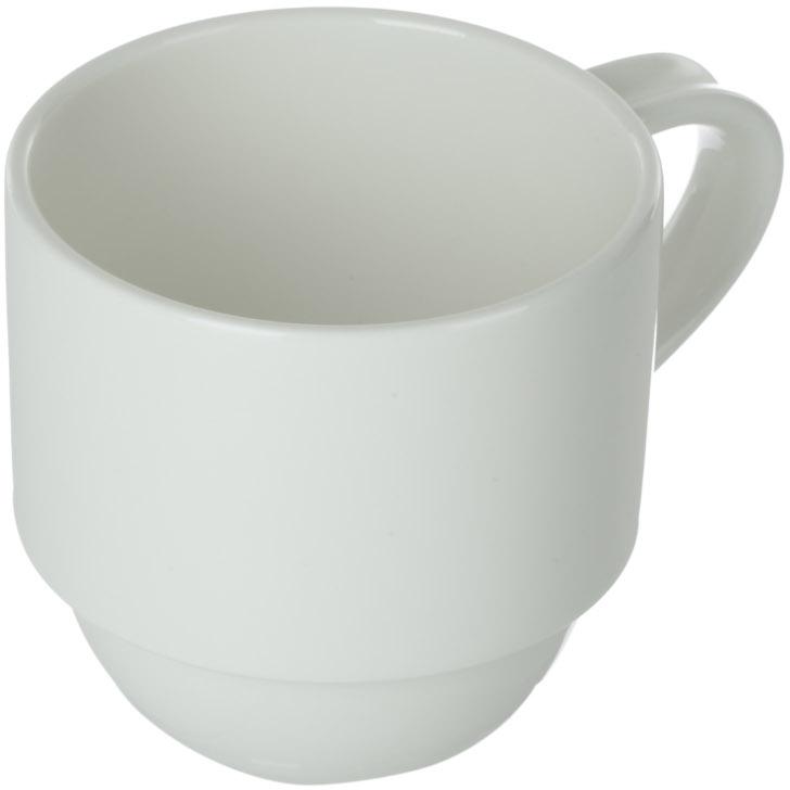 Чашка кофейная Royal Porcelain Гонг, 200 млРП-8718ROYAL новый уникальный продукт на рынке фарфора производится из материала, в состав которого входит алюминиум (глинозем) в виде порошка, что придаёт фарфору уникальные свойства: белоснежный цвет, как на поверхности, так и на изломе, более тонкие и изящные формы, так как добавление металла делает фарфоровую массу более пластичной, устойчивость к сколам и царапинам. Возможный перепад температур при эксплуатации до 200 градусов! Фарфор покрывается глазурью, что характеризует эту посуду как продукт высшего класса. Идеально подходит для использования в микроволновой печи и посудомоечной машине
